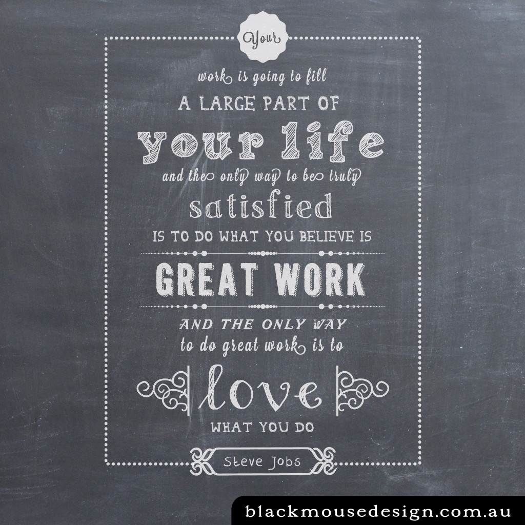 Love What You Do Black Mouse Design