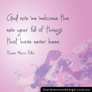 Welcome in the New Year